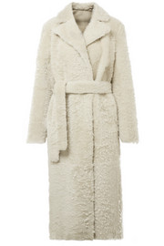 Clairene reversible shearling coat