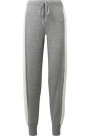 Theory Athletic striped cashmere track pants