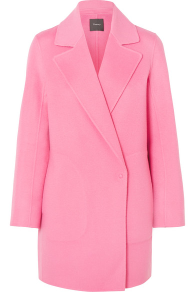 Theory - Boy Wool And Cashmere-blend Coat - Pink