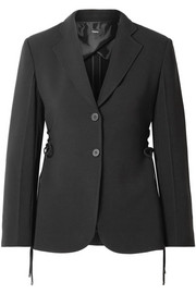 Theory Lace-up crepe blazer