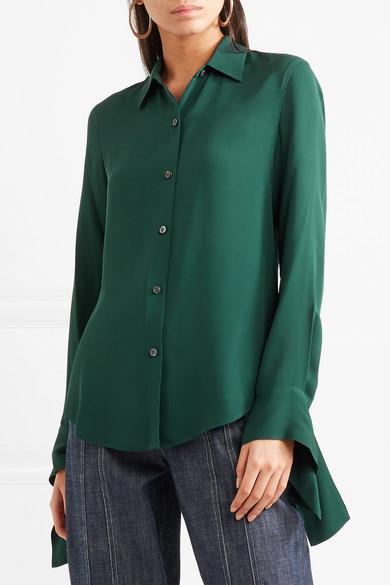 3bb1a032d4157d Theory Womens Bernetta Blouse Silk Tie Front Source · Theory Silk crepe shirt  NET A PORTER COM