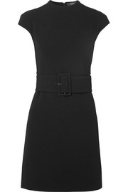 Mod belted crepe mini dress