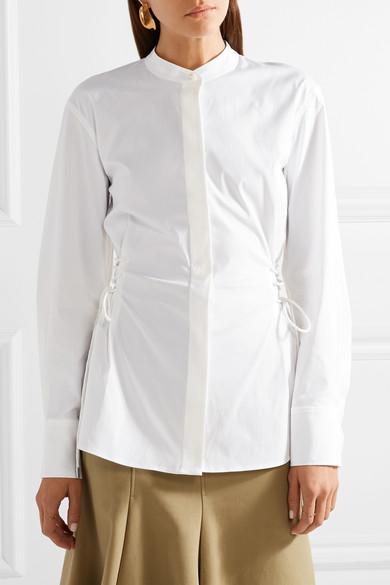 Theory Hemd aus Popeline aus einer Baumwollmischung mit Schnürdetails