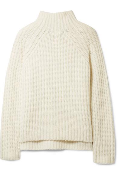 Theory - Rifonia Chunky-knit Wool-blend Turtleneck Sweater - Ivory