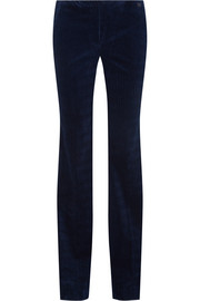 Theory Demitria stretch-cotton codurory flared pants