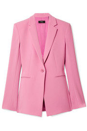 Power stretch-crepe blazer