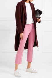 Admiral cropped stretch-crepe straight-leg pants
