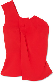 Roland Mouret Gathered one-shoulder crepe top