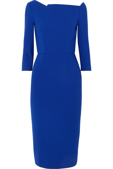 Roland Mouret Witham asymmetrisches Kleid aus Stretch-Crêpe  Online-Verkauf OhQt8