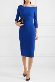 Witham asymmetric stretch-crepe dress