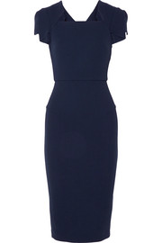 Roland Mouret Royston wool-crepe midi dress