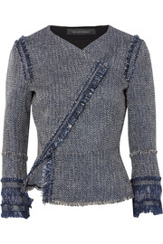 Roland Mouret Kirkham cotton-blend bouclé-tweed jacket