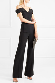 Roland Mouret Cold-shoulder crepe jumpsuit