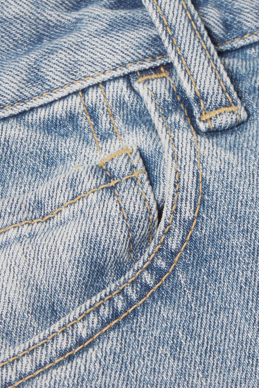 Bassike Cropped high-rise slim-leg jeans