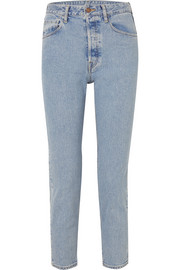 Cropped high-rise slim-leg jeans