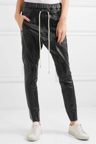 Pantalon En Cuir Noir - Bassike 73QrIr