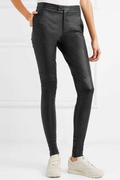 Bassike Eng geschnittene Hose aus Leder Echt YRdG80c9