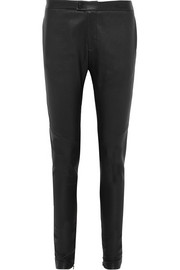 Bassike Leather skinny pants