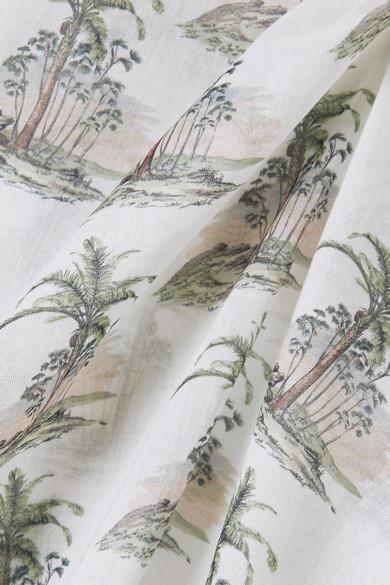 Bassike Bedrucktes T-Shirt aus Baumwoll-Gaze