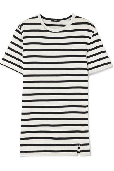 Bassike T-Shirt aus Baumwoll-Jersey mit Streifen
