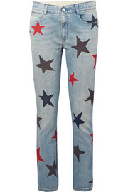Stella McCartney Printed slim boyfriend jeans