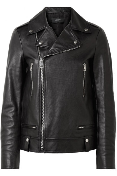 Ryder Leather Biker Jacket - Black Joseph Outlet With Paypal Order xzXi1OR