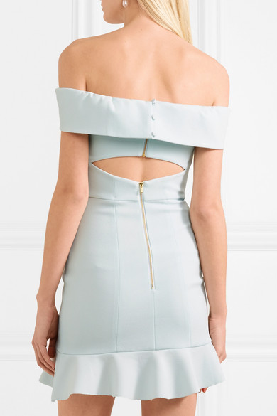 Rebecca Vallance Hampton Strapless Mini Dress In Crêpe