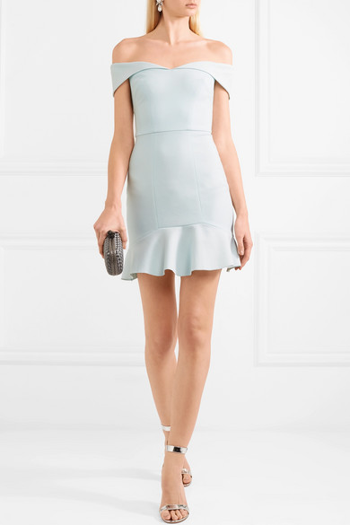 Rebecca Vallance Hamptons schulterfreies Minikleid aus Crêpe