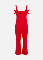 Rebecca Vallance Havana bow-embellished cutout crepe jumpsuit