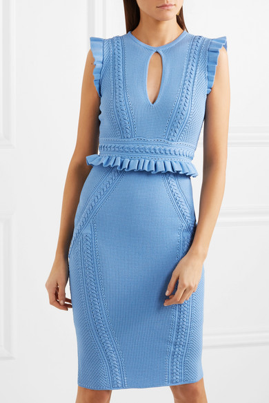 Majorca Rebecca Vallance mit Majorca Rebecca R眉schen Strick Kleid aus Vallance Kleid aus Pointelle qUYpFq