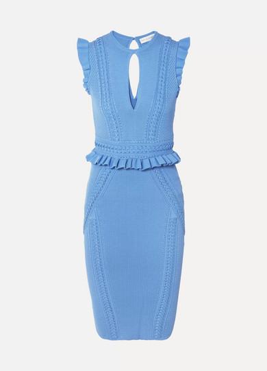 Verkauf Beliebt Rebecca Vallance Majorca Kleid aus Pointelle-Strick mit Rüschen Freies Verschiffen Veröffentlichungstermine Billig Verkauf Amazon Günstig Kaufen Zum Verkauf HcxAMraE3