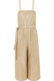Cancun textured-lamé jumpsuit