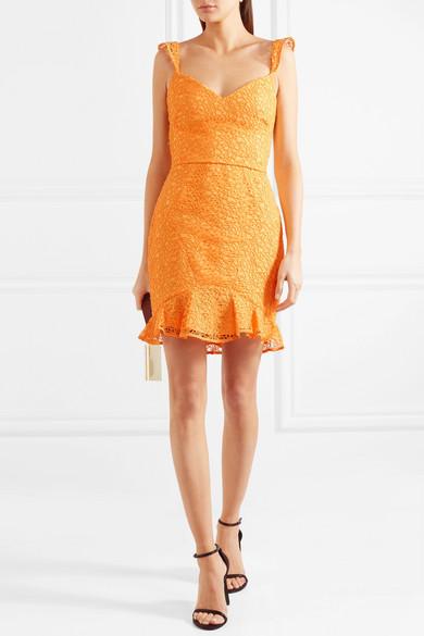Rebecca Vallance Baha Minikleid aus Spitze mit Rüschen