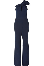 Hamptons one-shoulder crepe jumpsuit