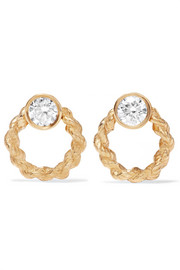 Rope Door Knocker 18-karat gold diamond earrings