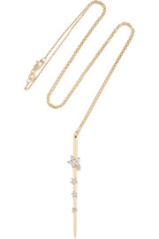 Thorn 18-karat gold diamond necklace