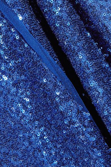 Elie Saab Paillettenverzierte Tüllrobe aus einer Seidenmischung