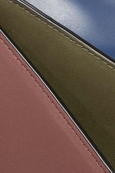 Diane von Furstenberg Soirée Schultertasche aus Leder in Colour-Block-Optik