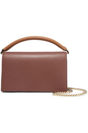 Soirée color-block leather shoulder bag