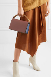 Diane von Furstenberg Soirée color-block leather shoulder bag