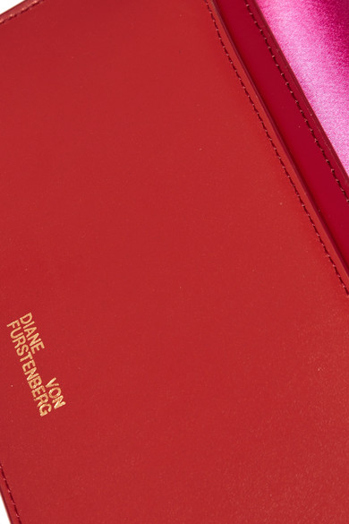 Diane von Furstenberg Soirée Schultertasche aus Satin und Leder in Colour-Block-Optik Austritt Ansicht gv5Alt5tk