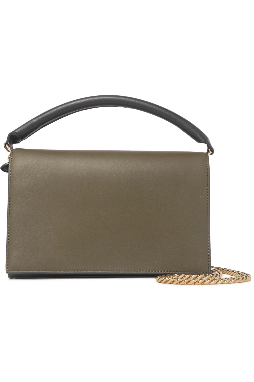 Diane von Furstenberg Soirée color-block leather shoulder bag