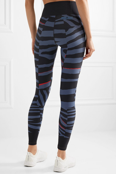 adidas by Stella McCartney Train Miracle Leggings aus Climalite®-Stretch-Material mit Zebramuster