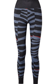 Train Miracle zebra-print Climalite stretch leggings