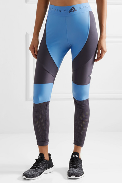 adidas by Stella McCartney Leggings aus Climalite®-Stretch-Material mit Mesh-Einsätzen