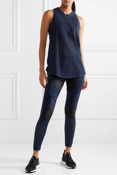 adidas by Stella McCartney Leggings aus Climalite®-Stretch-Material mit Mesh-Einsätzen