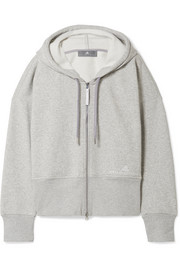 Essentials organic cotton-blend fleece hooded top