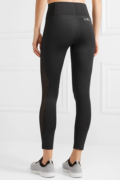 adidas by Stella McCartney Train Ultimate Leggings aus Climacool®-Stretch-Material mit Mesh-Einsätzen