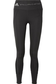 Train Ultimate mesh-trimmed Climacool stretch leggings