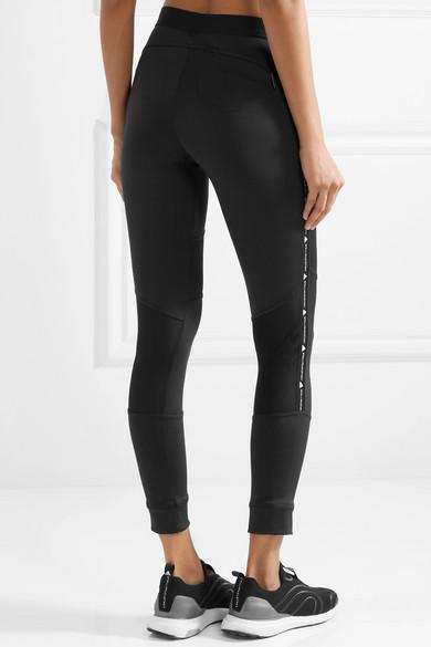 adidas by Stella McCartney + Parley for the Oceans Essentials Leggings aus Climalite®-Stretch-Material mit Mesh-Einsätzen Spielraum Erhalten Authentisch cvkzjff